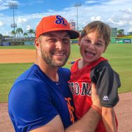 Tim meets Landon prior to a St. Lucie Mets game.JPG