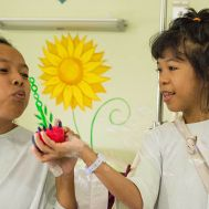Rosemarie and Angelica play together before surgery.jpg