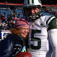 Maggie Juul W15H with Tim Tebow - 2012.JPG